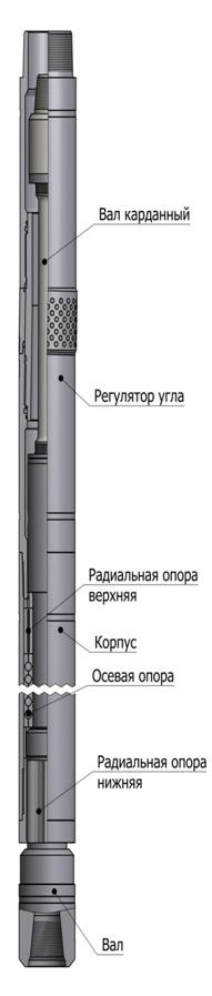 Винтовой забойный двигатель (ВЗД) для бурения горизонтальных и направленных скважин