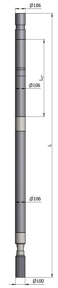 Гидравлический винтовой забойный двигатель ВЗД Д-106