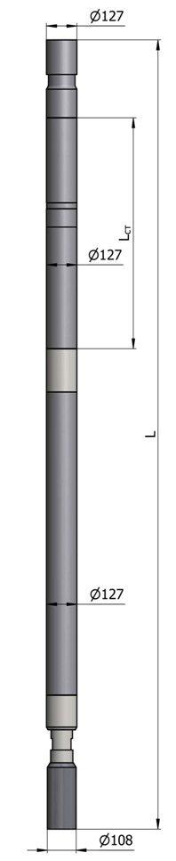 Гидравлический винтовой забойный двигатель ВЗД Д-127