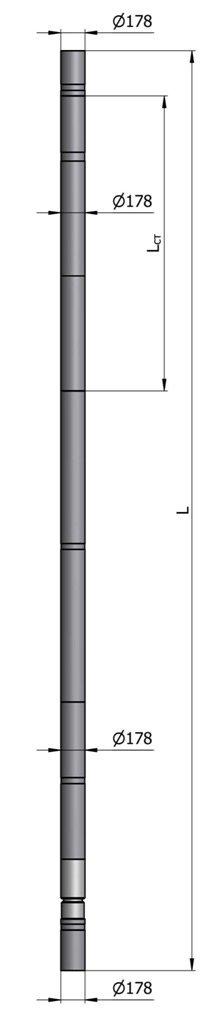 Гидравлический винтовой забойный двигатель ВЗД Д-178