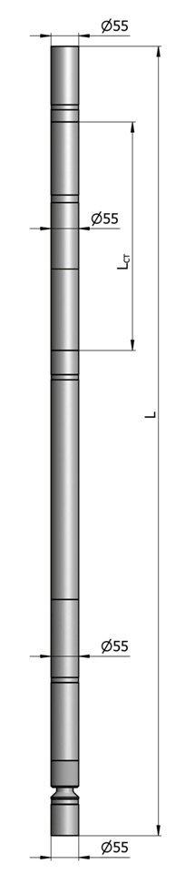 Гидравлический винтовой забойный двигатель ВЗД Д-55