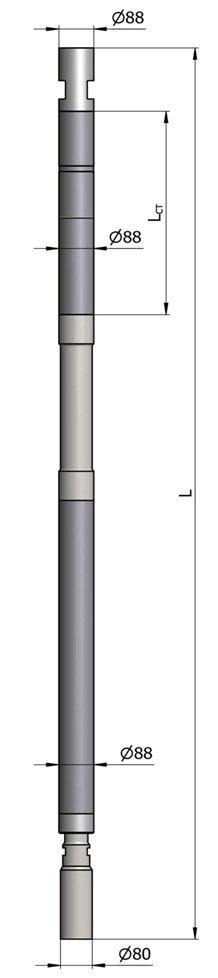 Гидравлический винтовой забойный двигатель ВЗД Д-88