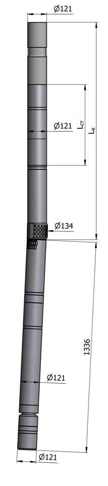 Гидравлический винтовой забойный двигатель с регулятором угла ВЗД ДР-120