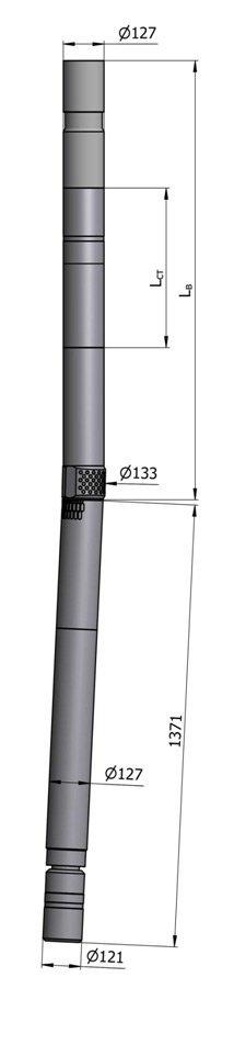 Гидравлический винтовой забойный двигатель с регулятором угла ВЗД ДР-127