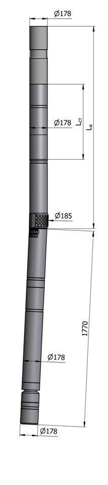 Гидравлический винтовой забойный двигатель с регулятором угла ВЗД ДР-178