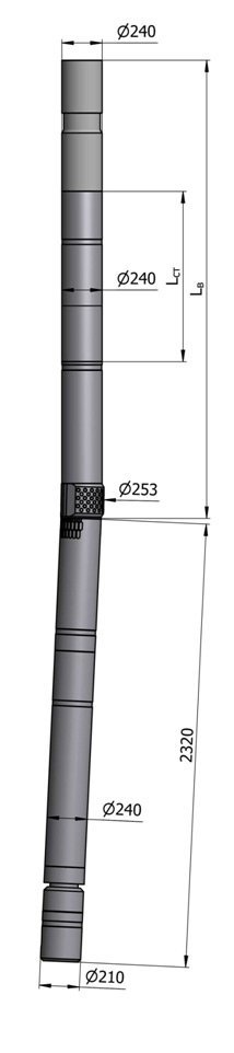 Гидравлический винтовой забойный двигатель с регулятором угла ВЗД ДР-240