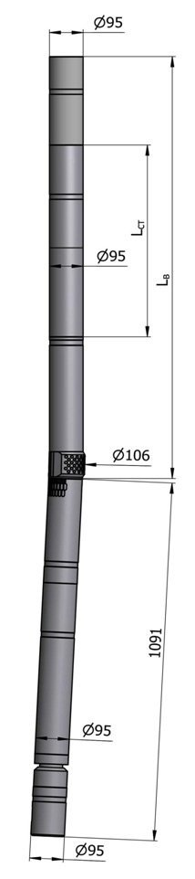 Гидравлический винтовой забойный двигатель с регулятором угла ВЗД ДР-95